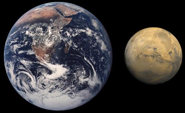地球和火星