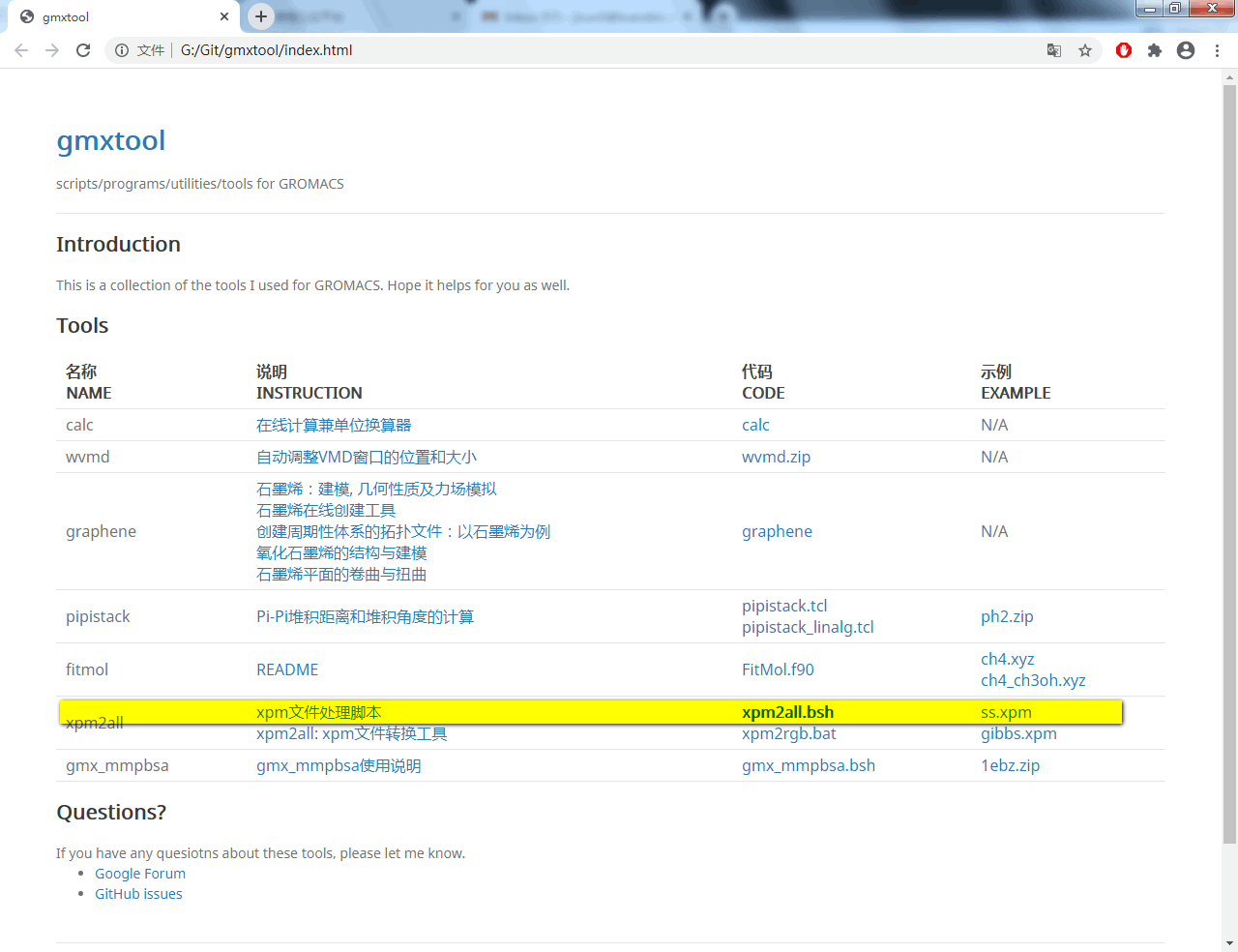 "下载最新脚本<a href=""https://jerkwin.github.io/gmxtool/"">xpm2all.bsh</a>, 测试文件<a href=""https://jerkwin.github.io/gmxtool/"">ss.xpm</a>"